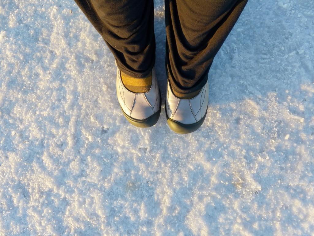 walking on salt