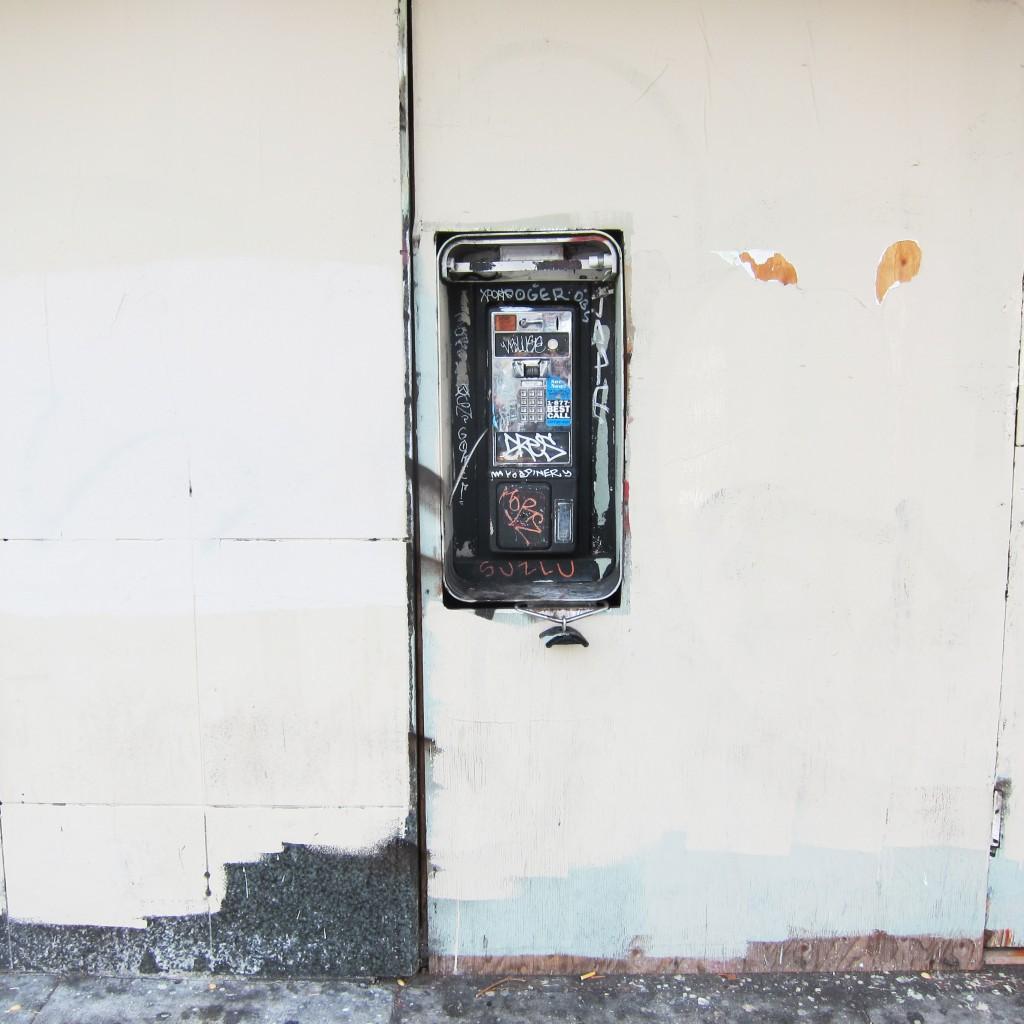 behind the phone