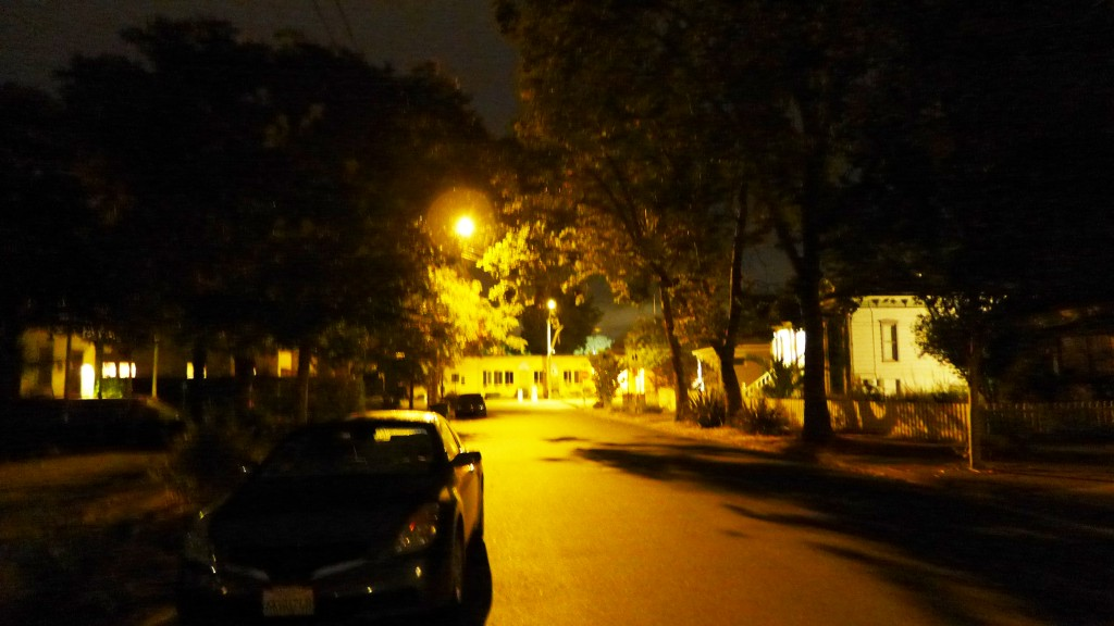 my street at night